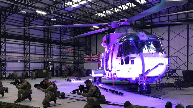 Royal Marines take delivery of first upgraded helicopters