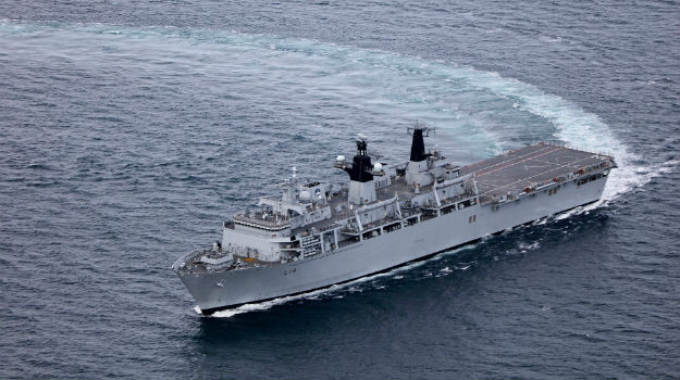 HMS Albion leads pioneering new training exercise