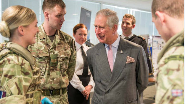 Prince Charles visits home of Joint Forces Command