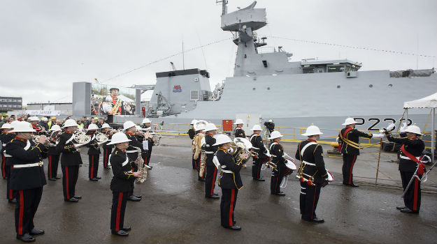 HMS Tamar formally named in Glasgow