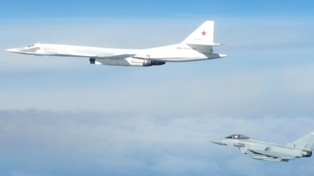 RAF scrambles to intercept menacing Russians bombers away from UK airspace