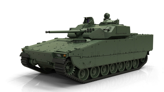 BAE Systems shows off new CV90 MkIV tank