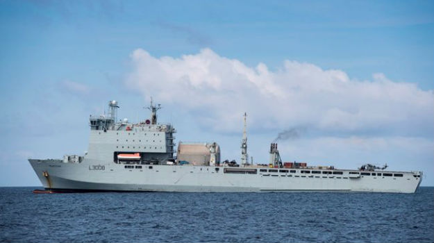 RFA ship helps save three people in the Caribbean