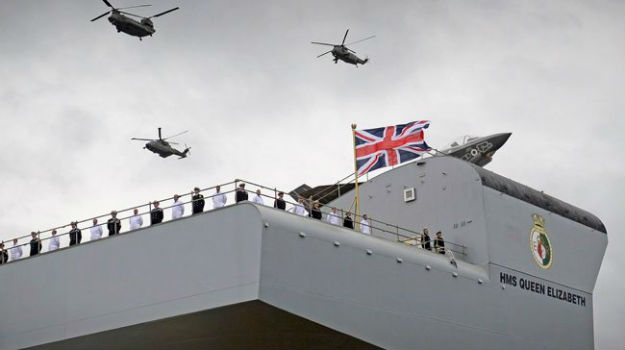 Proud moment for Britain as HMS Queen Elizabeth arrives home in Portsmouth